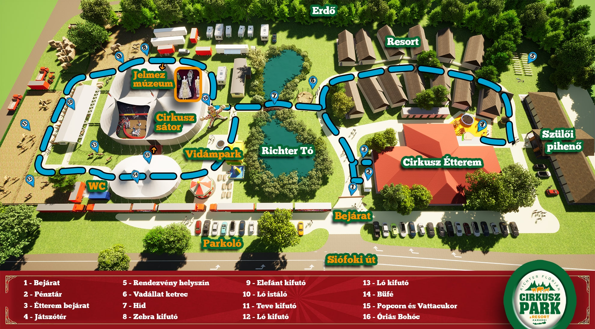 Cirkuszpark térkép